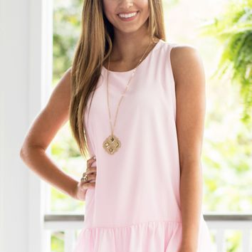 Clearly Perfect Top in Blush | Monday Dress
