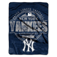 New York Yankees MLB Micro Raschel Blanket (Structure Series) (46in x 60in)