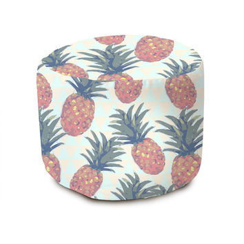 Low Poly Pineapples Pouffe
