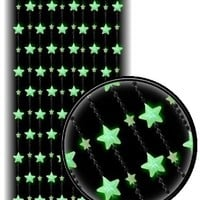 Beaded Curtains - Glow in the Dark Stars Door Beads #60879