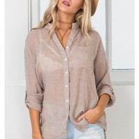 Learning To Fly shirt in mocha