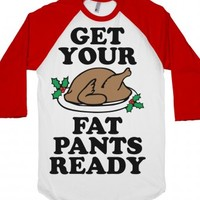 Fat Pants-Unisex White/Red T-Shirt