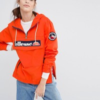 Ellesse | Ellesse Pullover Hooded Jacket With Half Zip And Logo On Front at ASOS