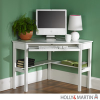 Holly & Martin Alexander Corner Computer Desk-White