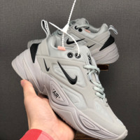 HCXX 19June 1240 nike M2K Tekno 3M Reflective Retro-Ancient Men's and Women's Sports Shoes grey
