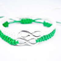 Infinity Bracelets Green and White