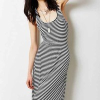 BDG Stripe Knit Knot-Back Maxi Dress- Black & White S
