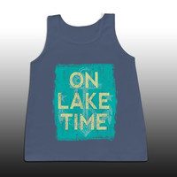 Sassy Frass on Lake Time Girlie Confort Color Bright Tank Top