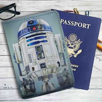 Star Wars R2D2 Movie Leather Passport Wallet Case Cover