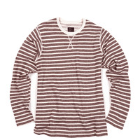 Striped French Terry Long Sleeve Brown