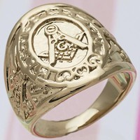 Gold Layered Men Mens Ring, by Folks Jewelry