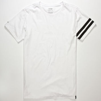 Tavik Selector Mens Tall Tee White  In Sizes