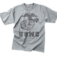 Grey Vintage USMC Officially Licensed Globe & Anchor T-Shirt