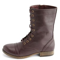 Side-Zip Lace-Up Combat Boot: Charlotte Russe