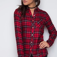 New Crew Plaid Top - Red