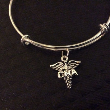 Cna Charm On A Silver Bangle Certified