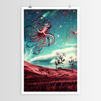 Paula Belle Flores's Sunrise Flight on Purple Planet POSTER