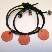 Childrens Oil Diffuser Bracelets Adjustable Aromatherapy Clay Tribal Charm Bracelets with Natural Stone and Bead Charms Boys, Teen Bracelets