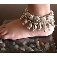 BIRTHDAY GIFT ANKLET Bellydancing Festival wear Gyspy Jewelry Beach outfit Anklet Vintage Tribal hippy hippi boho gift for her