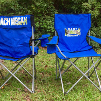 Monogrammed Chair, Personalized Coach's chair, Camp Chair, Concert chair, Softball, Baseball, Soccer Mom Personalized Chair