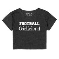 Football Girlfriend Crop Top-Female Heather Onyx T-Shirt