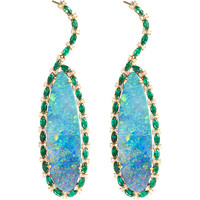 Sara Weinstock Emerald & Opal Chandelier Earrings | Barneys New York