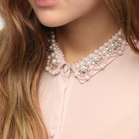 Urban Outfitters - Pins and Needles Pearl Collar Blouse