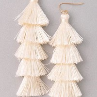 Dazzle Tassel Fringe Earrings