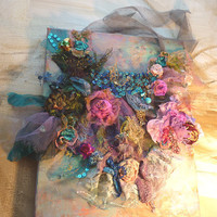 Beautiful Artisic Necklace textiles  GYPSY EVENING by Paulina722