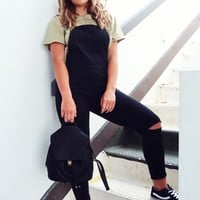 Let's Be Happy Overalls: Black