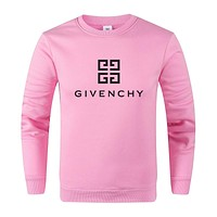 GIVENCHY Autumn Winter Women Men Print Long Sleeve Sweater Sweatshirt Pink