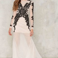 Nasty Gal Collection Bated Breath Beaded Maxi Dress