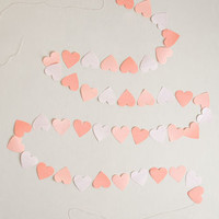 Love Is in the Lair Heart Paper Garland