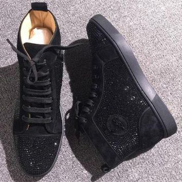DCCK2 Cl Christian Louboutin Rhinestone Style #1971 Sneakers Fashion Shoes