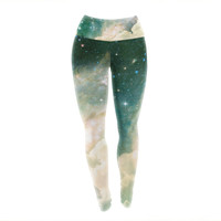 Space Clouds Unique Yoga Exercise Leggings