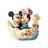 Disney Traditions Mickey and Minnie in Swan by Jim Shore