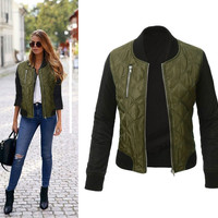 women basic coats Casual Long Sleeve women jacket new winter coat thicken basic jackets outwear bomber jackets jaqueta feminina