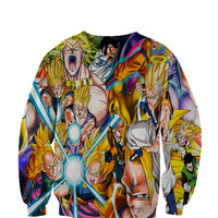 Dragon Ball Z crewneck sweatshirt All Over Style Print