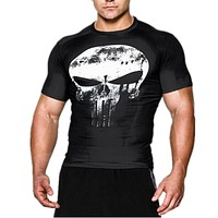 TOP sale Mens Boy Avengers Compression Armour Base Layer Short Sleeve Thermal Under Top Tee Shirt joges T shirt Fitness T-shirt