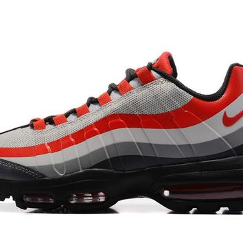 Best Sale NIKE AIR MAX 95 ULTRA ESSENTIAL Black White Gray Red