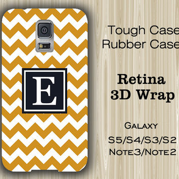 Teen Yellow Chevron Monogram Samsung Galaxy S5/S4/S3/Note 3/Note 2 Case