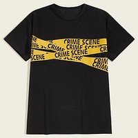 Fashion Casual Men Letter Graphic Tee