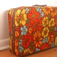 Vintage Floral Suitcase by Shainalynn on Etsy