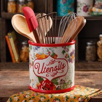 The Pioneer Woman Country Garden Utensil Crock - Walmart.com