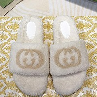 GUCCI GG Women's Interlocking Double G Slippers Shoes