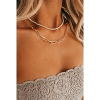 Completely Perfect Layered Necklace (Ivory)