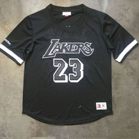Mitchell & Ness Lakers 23 LeBron James Short Sleeve Jersey DCCK