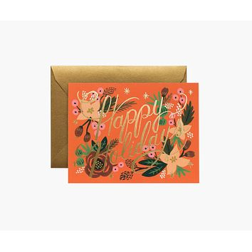 Poinsettia Holiday Cards - Boxed Set of 8