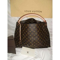 LV Louis Vuitton Fashion Women's Hand-held Printed Shopping Bag Single Shoulder Bag