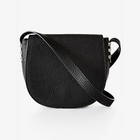 Pebble Textured Chevron Cross Body Bag from EXPRESS
